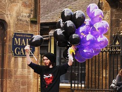 Black and Purple Balloons