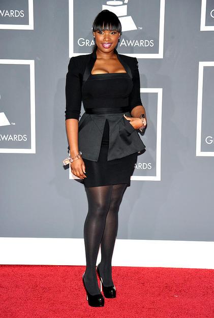 Singer Jennifer Hudson arrives at the 52nd Annual GRAMMY Awards