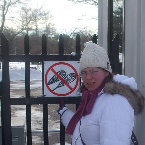 no snowshoes