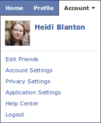 Image: Facebook Account Options