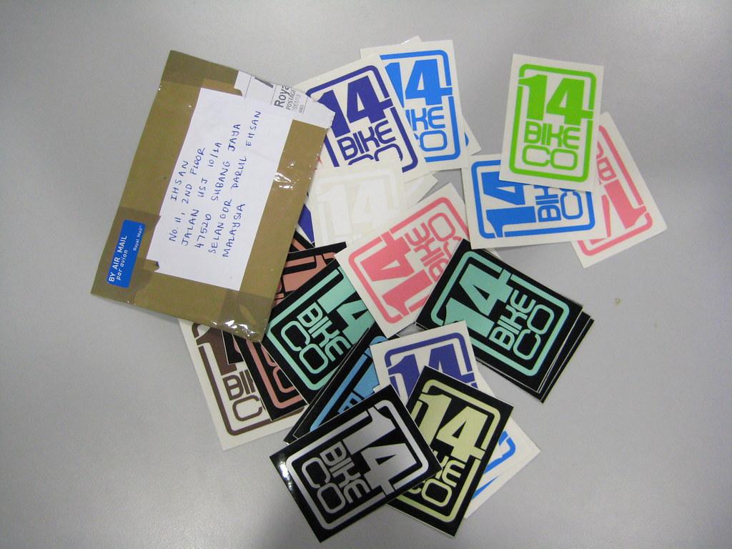 14bikeco stickers!