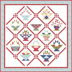 Basket BOM Setting Option 6 by Sandi Walton at Piecemeal Quilts
