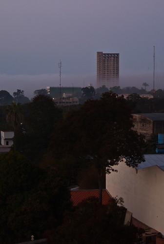 Niebla en Ciudad del Este