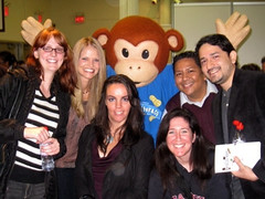 Group Shot with the Peanut Butter & Co Monkey