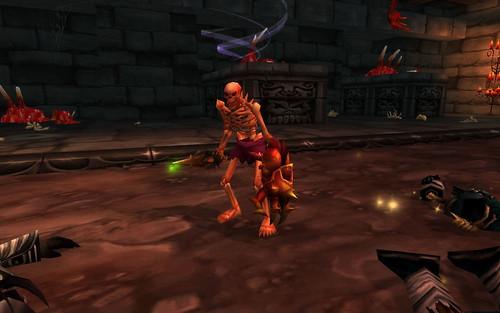 Spennix as a skeleton in the Scholomance