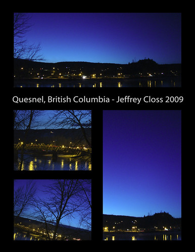 Quesnel Collage - Blue Hour