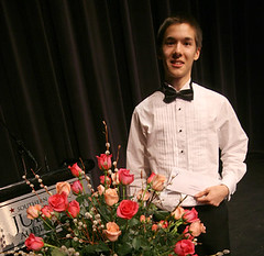 Scott MacIsaac, winner of the Kiwanis Music Festival Rose Bowl in Calgary, Alberta