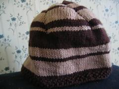 brown stripey hat