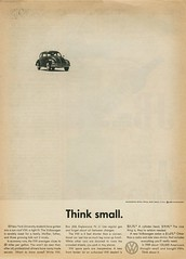 "1960 Volkswagen ""Think small."""