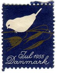 Denmark Christmas seal: bird