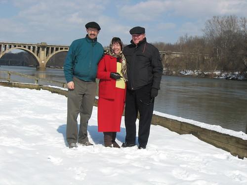 grandparents at river