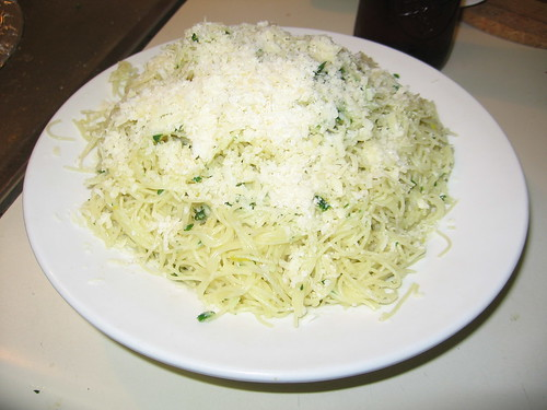 Angel hair pasta with gremolata