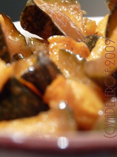 Zucca al forno, miele e spezie