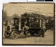 Paper Calmenson scrap metal collection truck a...