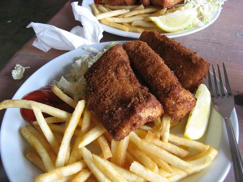 Fish'n'Chips at Paia Fishmarket Restaurant, Maui