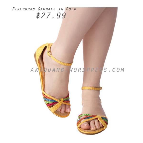 Fireworks Sandals in Gold
