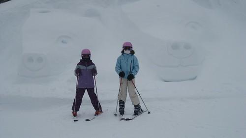 Snow Sculpture at the top of Beaver Creek