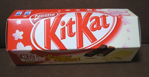 Milk and white chocolate Kit Kats - caught in a UFO Catcher