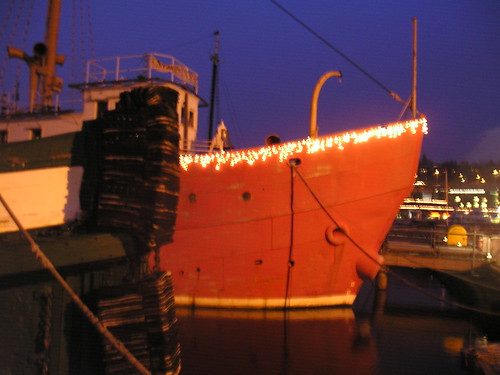 Lighting the Lightship at Lake Union Park