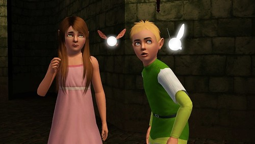 Hey! Look! Listen! Navi from The Legend of Zelda invades The Sims 3
