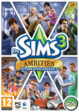 The Sims 3 Ambitions - Dutch cover (Low-quality)