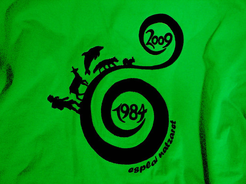Samarreta 25è aniversari en verd