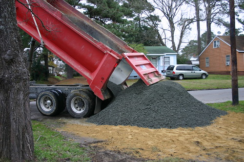 New Driveway - Big Ole Pile of Gravel