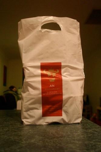 the takeaway bag