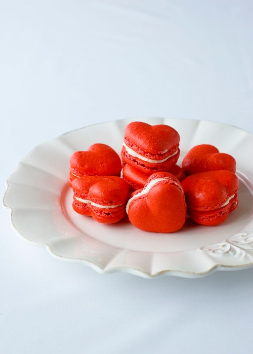 Red Velvet Valentine's Macarons, Delectable Deliciousness