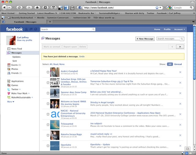 Messages – *New Facebook* User Experience (UX) & User Interface (UI)
