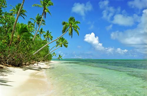 A paradise beach at Uiha, Tonga