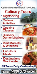 Celebrations International Culinary Travel Banner