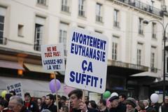 Manifestation contre l'avortement et l'euthanasie