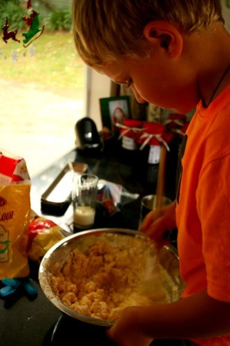 Mixing up the Shortbread