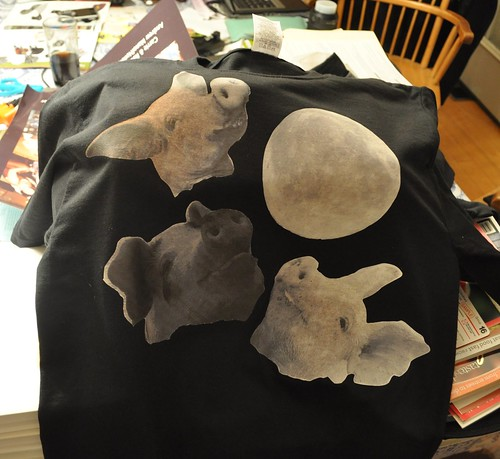 3 pork moon t-shirts