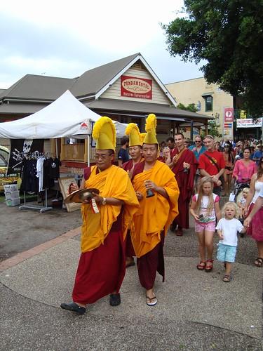 Sand Mandala dissolution procession