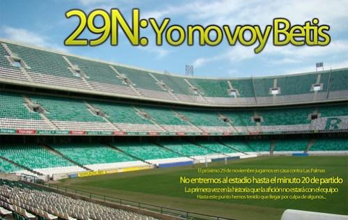 29N: Yo no voy Betis