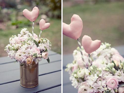 Ružava meilė -širdučių rojus