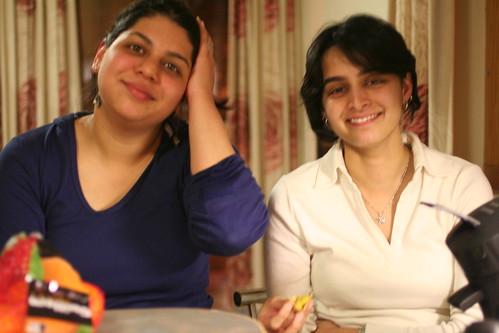Malavika and Neha