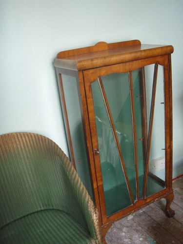 chair and china cabinet