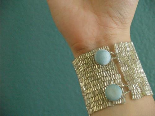 Silver Cuff worn