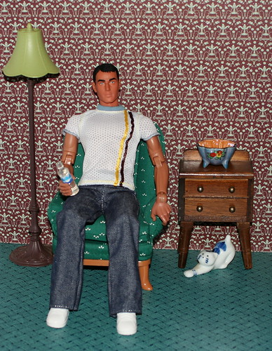 Gary In His Apartment