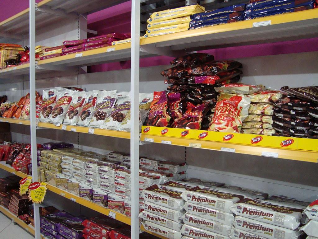 Uma das paredes de chocolate