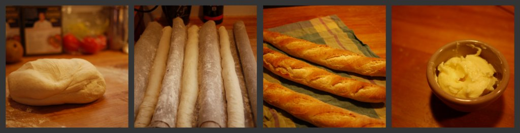 Poolish Baguettes Collage
