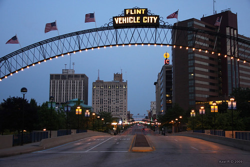 Downtown Flint, Michigan, August 2009