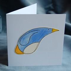 penguin pop-up card PF05 a