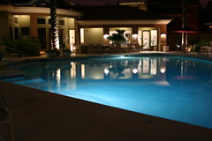Scenic Illuminated Pool