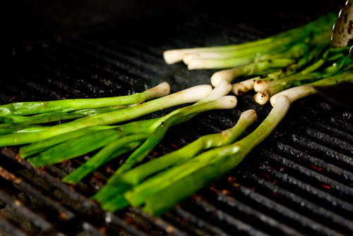 grilling scallions