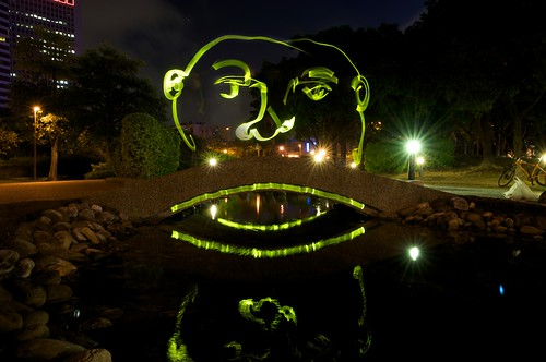 One aspect I like about light painting is trying to work with the scene around you.  Artist: Chris Jones