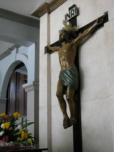 Crucified Jesus Christ in Basilica de Santo Nino